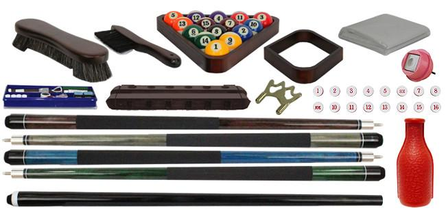 Plank & Hide Talbot pool table accessories