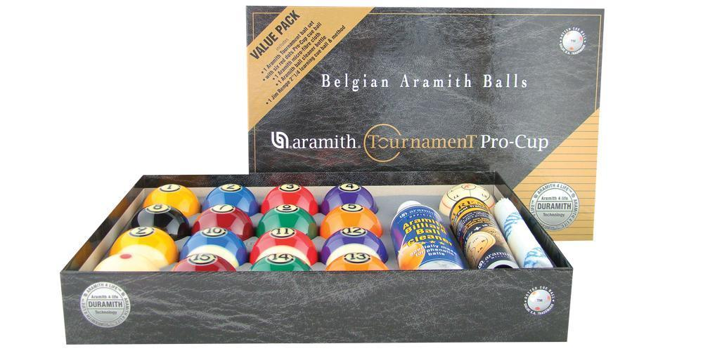 New Aramith Tournament Pro Cup Value Pack Pool Ball Set