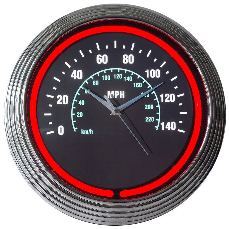 Speedometer Neon Clock