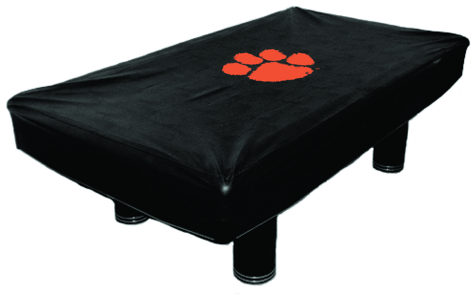 7 Ft Clemson Tigers CLMBTC100N-7 Fitted Billiard Pool