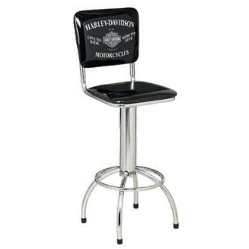 Harley-Davidson Motorcycles Bar Stool w/ Backrest HDL-12210