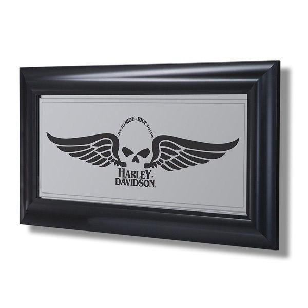 Harley-Davidson Winged Skull Mirror HDL-15222