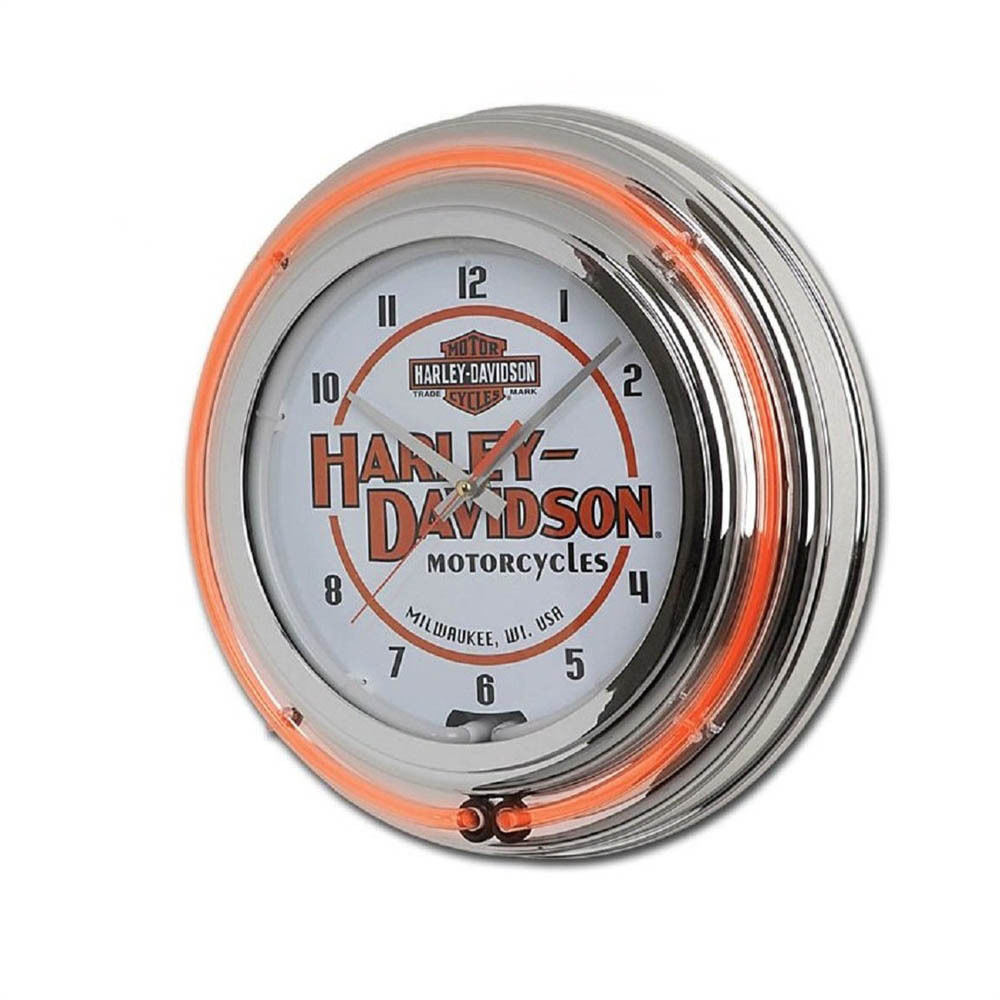 Harley-Davidson Motorcycles Double Neon Clock HDL-16623