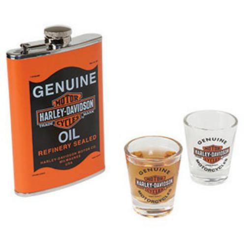 Harley-Davidson Oil Can Flask Set HDL-18557