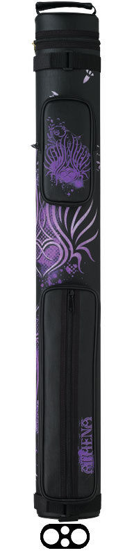 Athena 2x2 Black & Purple ATHC02 Pool Cue Case