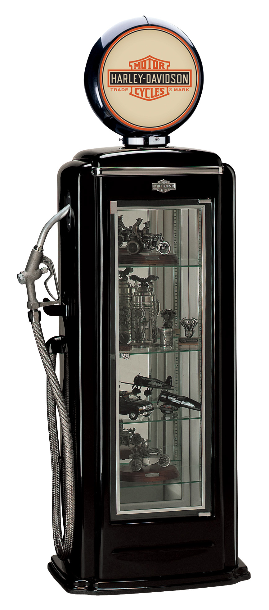 Harley-Davidson Premium Gas Pump Display Case (Black) HDL-10220A
