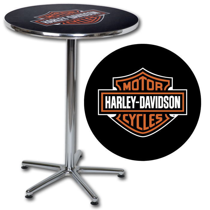 Harley-Davidson Bar & Shield Cafe Pub Table HDL-12314