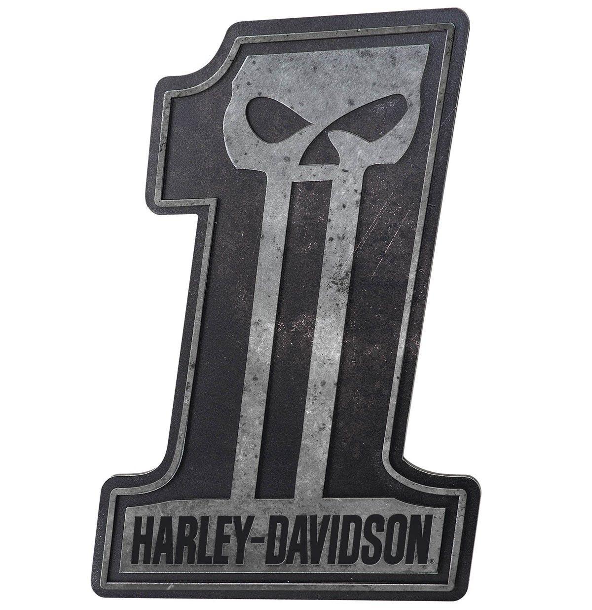 Harley-Davidson #1 Skull Pub Sign HDL-15312