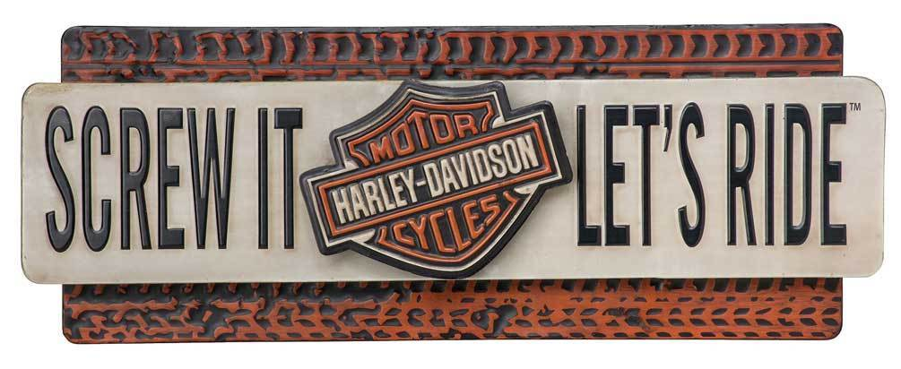 Harley-Davidson SCREW IT LET'S RIDE METAL SIGN HDL-15518