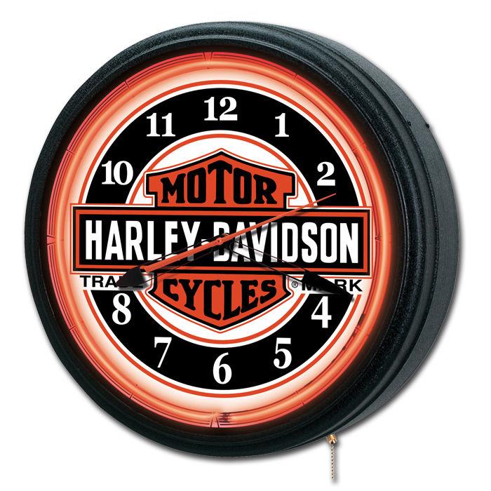 Harley-Davidson Nostalgic Trademark B&S Neon Clock HDL-16625