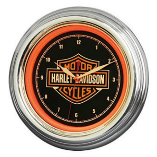 Harley-Davidson B&S LED Clock HDL-16633