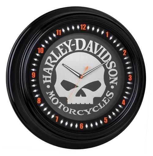 Harley-Davidson SKULL NEON CLOCK HDL-16639