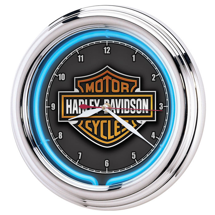 Harley-Davidson Essential Bar & Shield Neon Clock HDL-16675