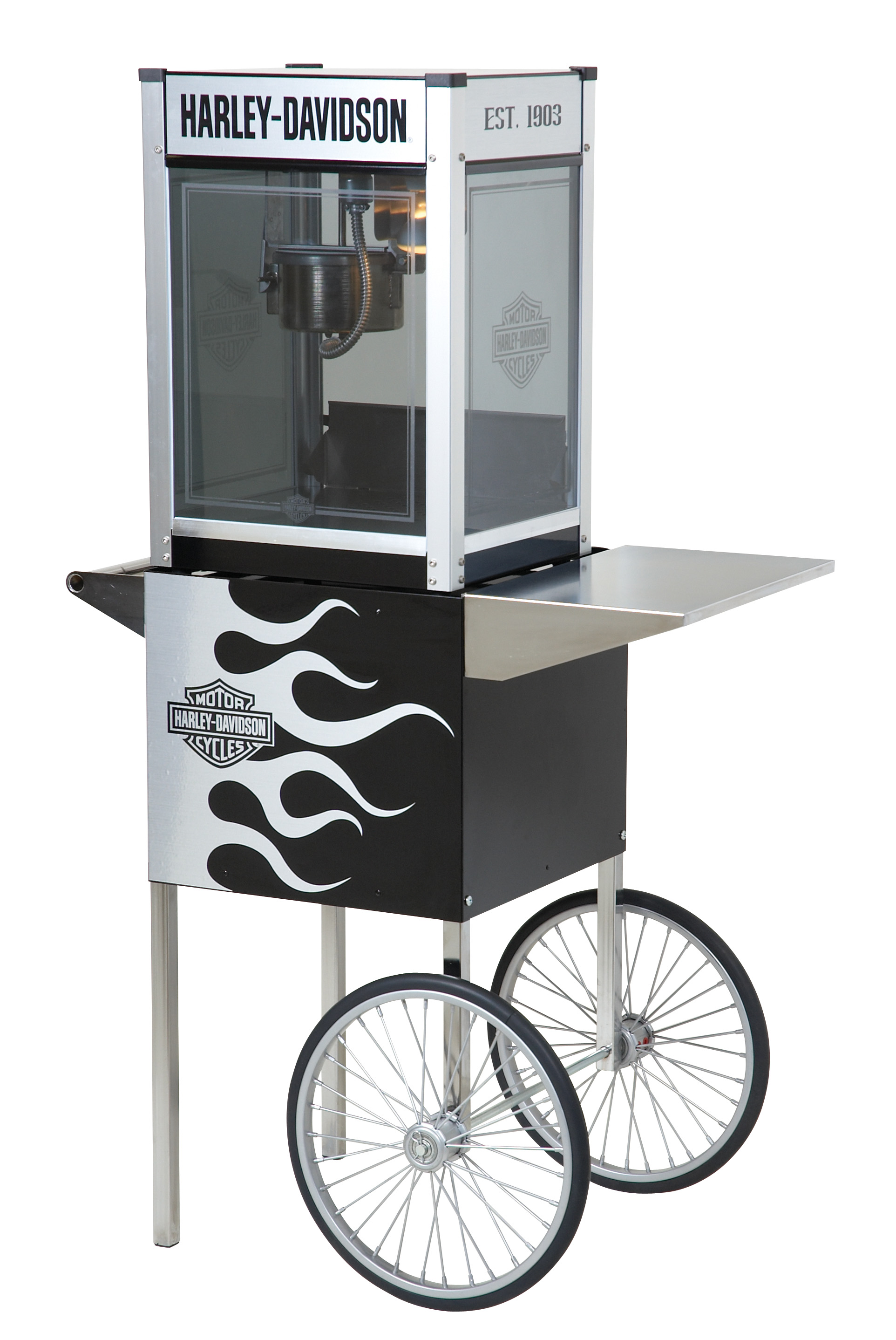 Harley-Davidson Metallic Flames Popcorn Machine w/ Cart HDL-17000