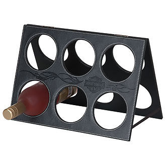 Harley-Davidson Bar & Shield Flames Wine Rack HDL-18512