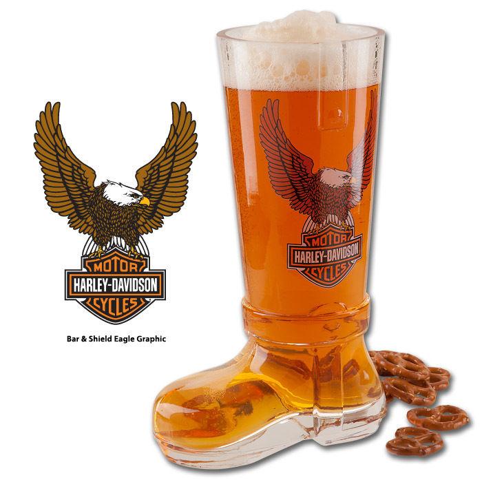 Harley-Davidson Bar & Shield Eagle Glass Boot HDL-18727
