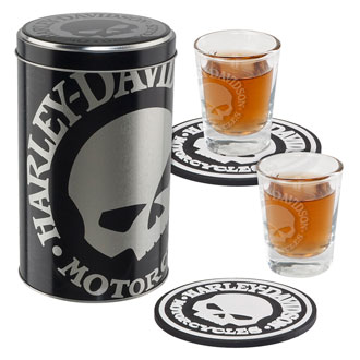 Harley-Davidson Skull Shot Glass Set HDL-18748