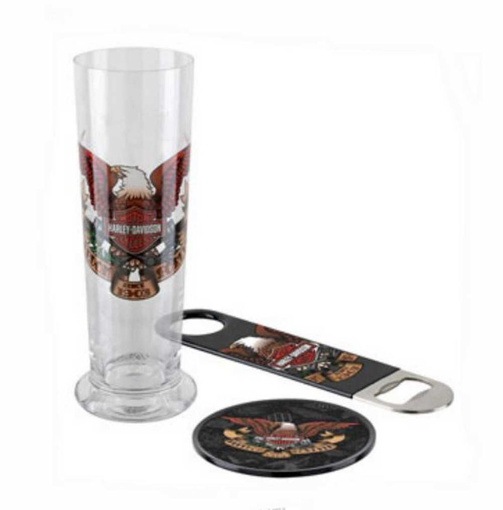 Harley-Davidson Freedom Forever Eagle Pilsner Beer Glass Set HDL-18750