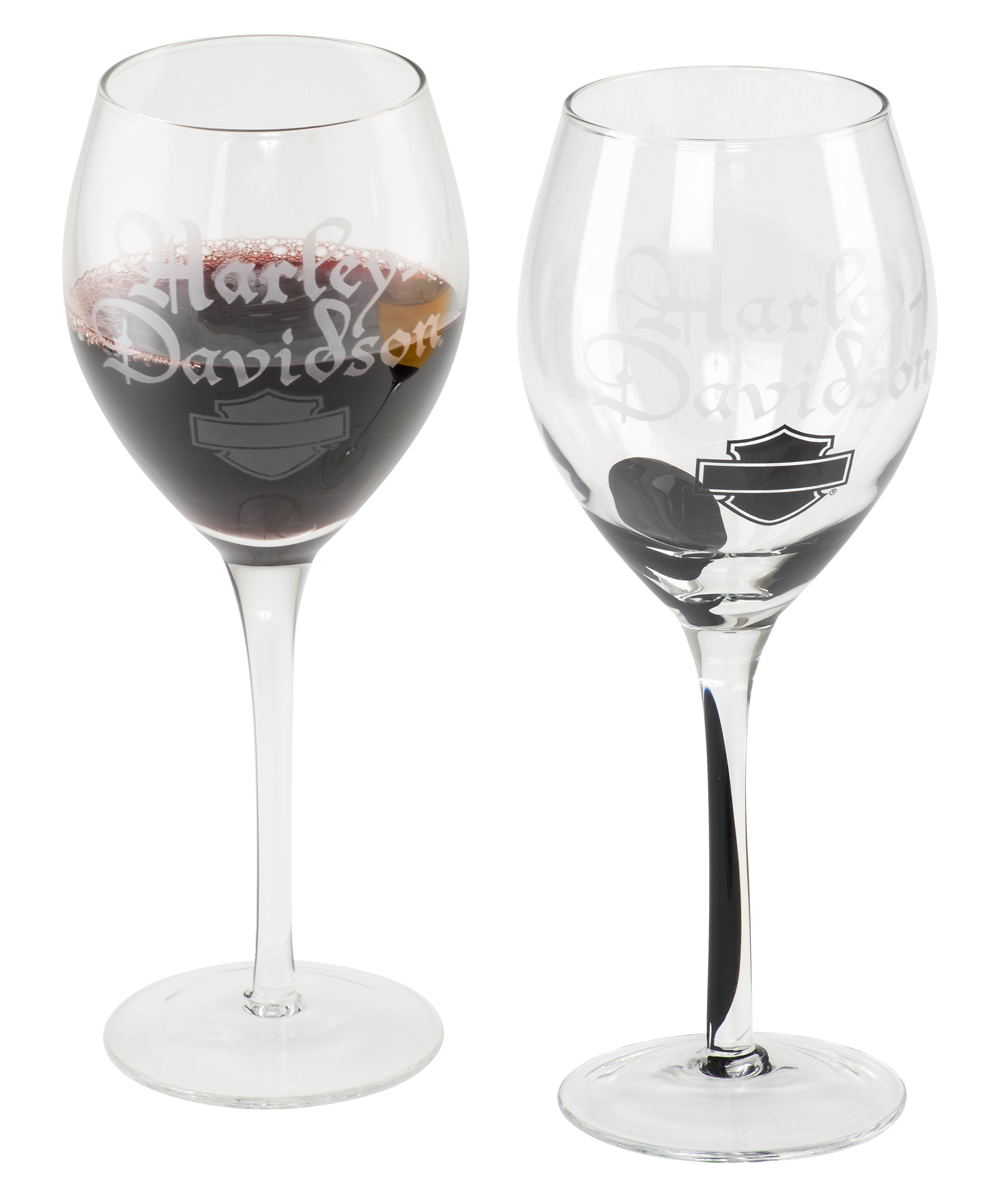 Harley-Davidson Silhouette B&S Wine Glass Set HDL-18767