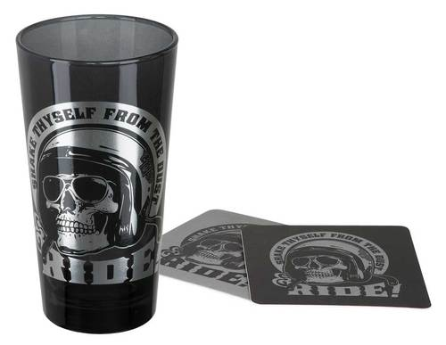 Harley-Davidson SKULL RIDER TALL GLASS SET HDL-18781