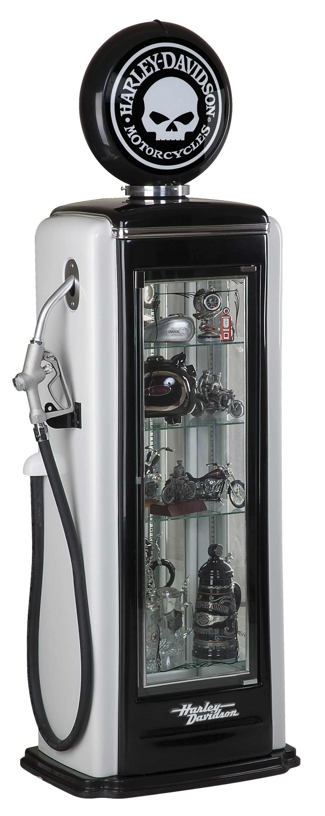 Harley-Davidson Skull Gas Pump Display Case HDL-19001