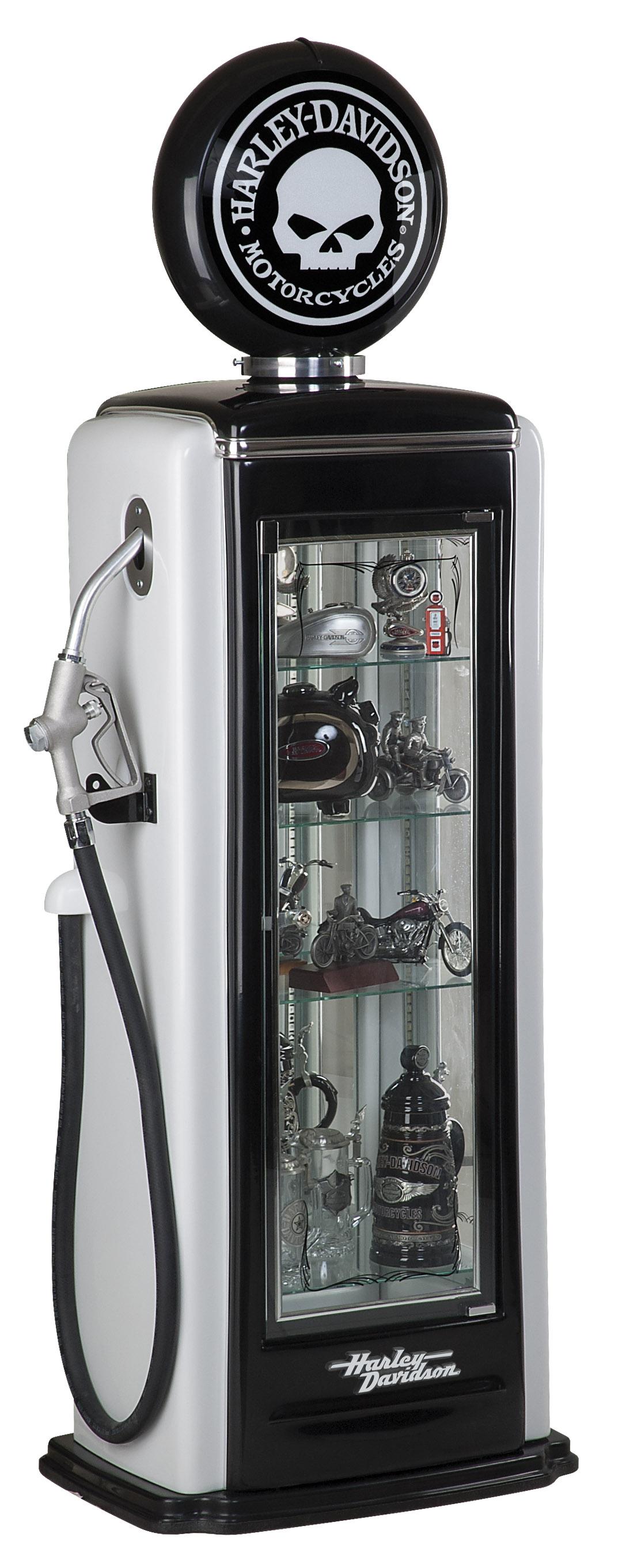 Harley Davidson Skull Gas Pump Display Case Hdl 19001